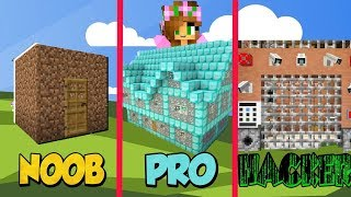 NOOB vs PRO vs HACKER - Secure Base Challenge | Minecraft Little Kelly