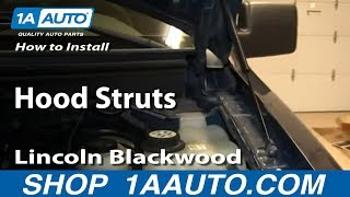How To Install Replace Hood Struts 2004-13 Ford F150 Lincoln Blackwood