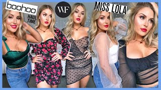 a GIANT clothing haul & try on! 💰 Boohoo, White Fox Boutique, Miss Lola & More! by Shaaanxo