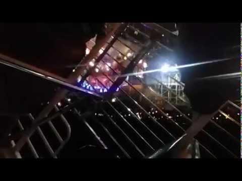 """Trava solta e rapaz passa apuros no """"Kamikaze"""" do Parque de Exposições"""