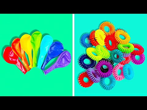 32 Cool RECYCLING Projects || 5-Minute Ideas to Reuse Balloons, Plastic Straws And Tights!