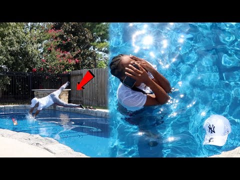 ANGRY GIRLFRIEND THROWS IPHONE X IN THE POOL!!! (REVENGE PRANK)