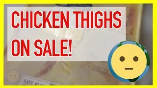 Check out these cheap chicken thighs on sale from the local grocery store weekly ad.  Basically 50% off the per pound pricing.  Made some tasty baked chicken thighs with these with some new chicken recipes.  Links somewhere her or to come once I get them edited.  Make sure to check out your local grocery store ads every week to save some cash on meat and produce you're going to have to buy anyway!It's always nice when you find something you want on sale regardless of how expensive or cheap.  Just the fact that you got a deal whether via an online coupon, weekly mailer or coupon code.  This was the case here with some meat products.  I happened to read the weekly mailer for Ralphs and found that the meat here was on sale.  It was basically 50% off with club card.  Nothing wrong with it; just maybe too much stock or just running a promotion to get people in the door for other items.  Definitely made use of the bulk by cooking some new recipes.  Since it was cheaper, I don't feel bad if it didn't come out the best like over-cooked or too dry, etc…  No coupons were needed; just walk in find it in the cold section and have a club card.  Some friends have commented that they get the same or better deal at Costco or Sam's Club or even the Mexican market; but the first two you have to pay for membership and the latter, sometimes you're not sure about the quality of the meat.  Anyway, just wanted to record my cheap chicken thighs on sale form the local weekly grocery store mailer ad for posterity.For more videos on food, cooking, recipes, check out our Food & Drinks playlist at https://www.youtube.com/playlist?list=PLmL7JMU7aON_41zoKnHfK1VVTLNEd6Rwg.  There you'll find tasty to easy recipes as well as nutritional facts for all types of produce.  You'll also see videos highlighting different types of cuisine and dishes from ethnic to fast food.  This will be the food vLog portion of the channel.  There are many cooking channels on youtube, so hopefully you'll be able to experience cooking in a different more casual perspective and maybe some fun new marinades that you might not have considered or rare unique dishes from other cultures.  If you have any requests for food videos, let us know.For more deals and things on sale, check out our Deals / On Sale playlist at https://www.youtube.com/playlist?list=PLmL7JMU7aON8jQzK8adO7cYaTcfF1qBzl.  There's always something on sale or deals going on from seasonal sales, clearance sales and just promotional deals.  People are always looking to save money and retailers are always looking for ways to move product.  Whether it's a legitimate sale or lowered pricing to make it seem like a cost-savings, there's always some kind mark down on items for various reasons.  Old stock making way for new stock is a great way to save money.  Of course, there are perishables that need to be moved to not lose money.  Also, there's the annual holiday sales, Black Friday, Cyber Monday and popular holiday sales like President's Day, Labor Day and even after Christmas sales.  Deep discounts can be found from things bought in massive bulk so that the consumer can benefit from lower pricing.  Find it all in your deals / sale playlist.For more info on food and deals, check out our website at: http://www.MySuLonE.Com.Copyright 2016 MySulone.Com. All rights reserved. All other company, product and/or service names used in this video are solely for the purposes of identification. All trademarks are the property of their respective owners.
