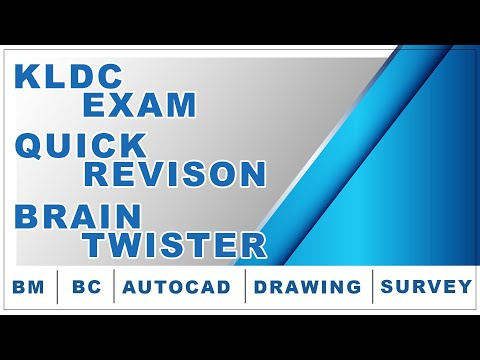 KLDC EXAM BASED l QUICK REVISON l BRAIN TWISTER