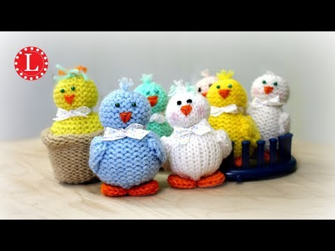 LOOM KNIT Toys on a Round Knitting Loom (Tiny Chicks Project) Loomahat