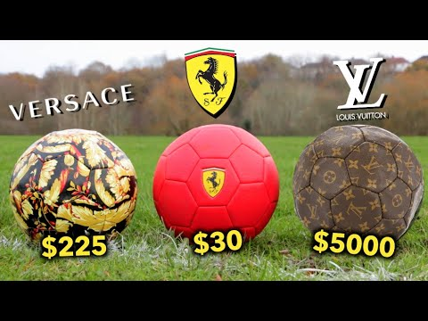 Testing FOOTBALLS That Are Made by FAMOUS BRANDS