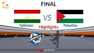 Tajikistan vs Palestine - Highlights - FINAL - Bangabandhu Gold Cup 2018