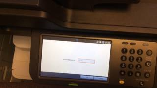 How to enter the service mode on a Samsung MultiXpress c9251 photocopier.