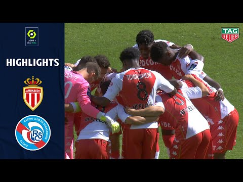 AS MONACO - RC STRASBOURG ALSACE (3 - 2) - Highlights - (ASM - RCSA) / 2020/2021