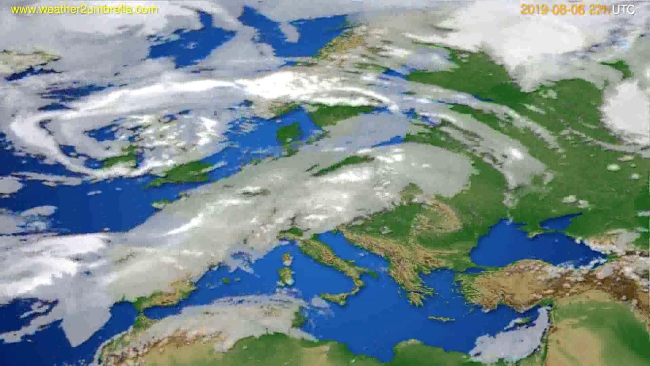 Cloud forecast Europe // modelrun: 12h UTC 2019-08-04