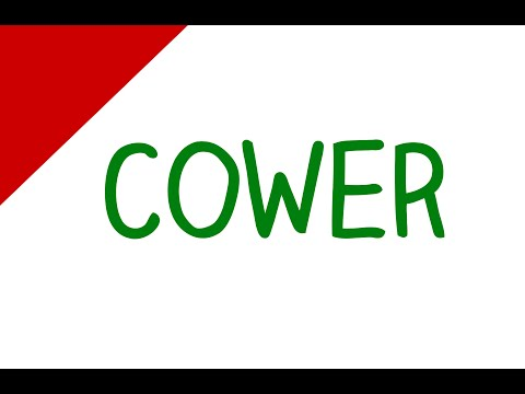 Learn English Words - Cower (Vocabulary Video)