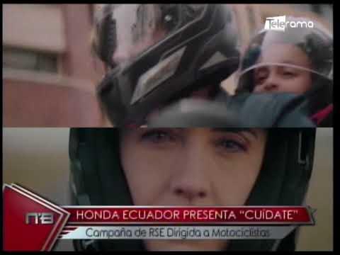 Honda Ecuador presenta Cuídate campaña de RSE dirigida a motociclistas