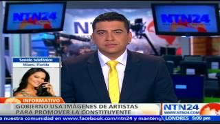 Suscríbase a nuestro canal en YouTube: http://tinyurl.com/NTN24VENEZUELALos seguidores del Gobierno de Venezuela se valen de todos los recursos para impulsar la votación en la polémica Asamblea Nacional Constituyente que está prevista para el próximo 30 de julio. También puede seguirnos en nuestras redes sociales:Twitter: https://twitter.com/ntn24veFacebook: https://www.facebook.com/NTN24veInstagram: https://instagram.com/ntn24ve