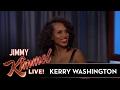 Jimmy Kimmel Shows Kerry Washington's High School Headshot
