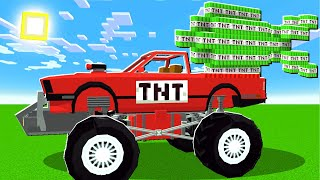 I Used TNT MONSTER Trucks To BLOW UP MINECRAFT!