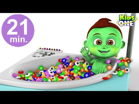BABY HULK Bath Time in Real Life | Learn Colors with M&M's Candy for Children
