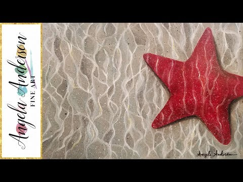 EASY Starfish Underwater Acrylic Painting Beginner Step by Step Tutorial LIVE