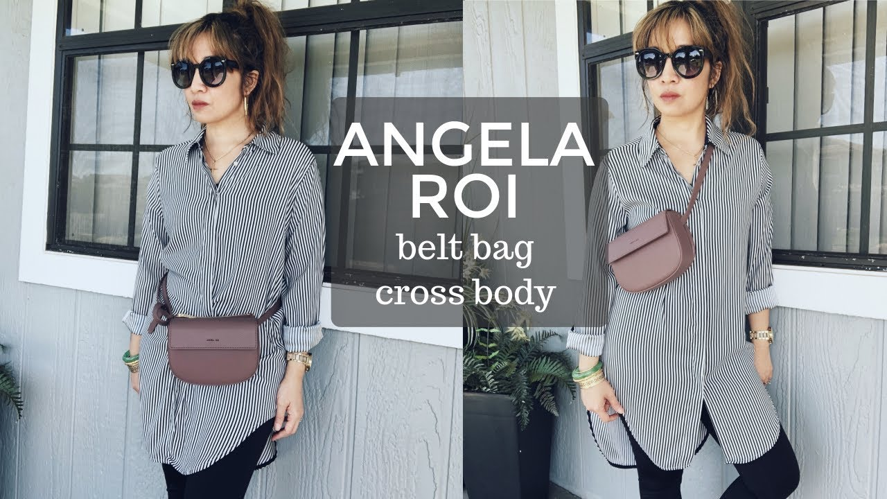 ANGELA ROI HAMILTON BELT BAG/CROSS BODY | WHAT FITS INSIDE | VEGAN LUXURY BAG | Thefabzilla