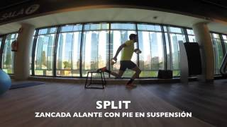 Split con pie en suspension