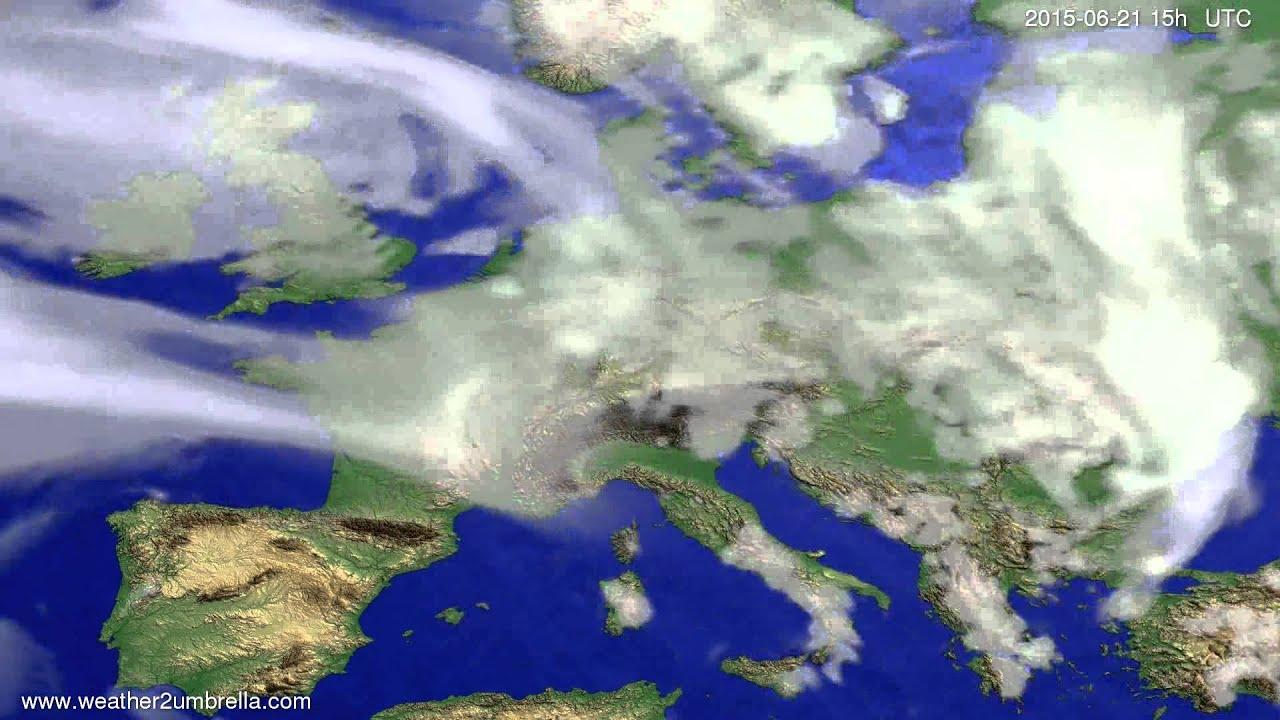 Cloud forecast Europe 2015-06-19