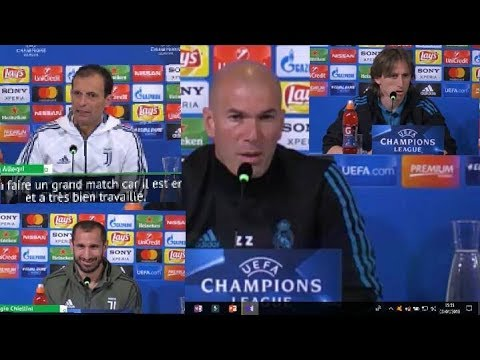 Interviews Zidane, Modric, Allegri Et Chiellini Juventus Vs Real Madrid 03/04/18