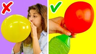 Video 17 AMAZING LIFE HACKS WITH BALLOONS MP3, 3GP, MP4, WEBM, AVI, FLV September 2018