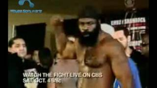Shamrock Pushes Kimbo Slice At The Weigh In!