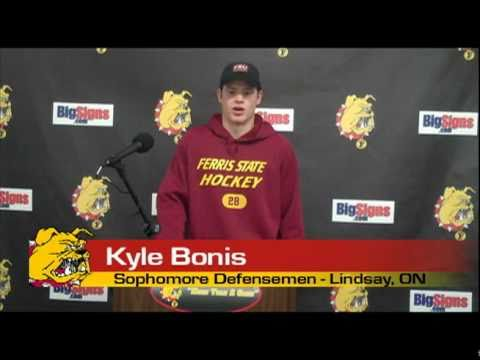 Kyle Bonis Hockey Press Conference 11/6/10