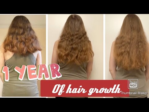 1 year time lapse  of my hair growth ★ Kat's Hair