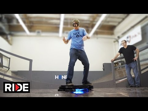 Tony Hawk Rides World s First Real Hoverboard