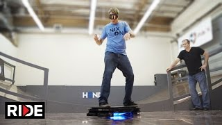 Hendo Hoverboard and Tony Hawk