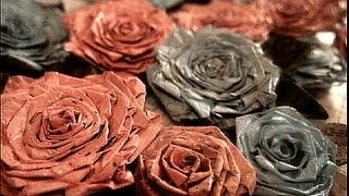 Make News Paper Rose..Recycling Crafts - YouTube