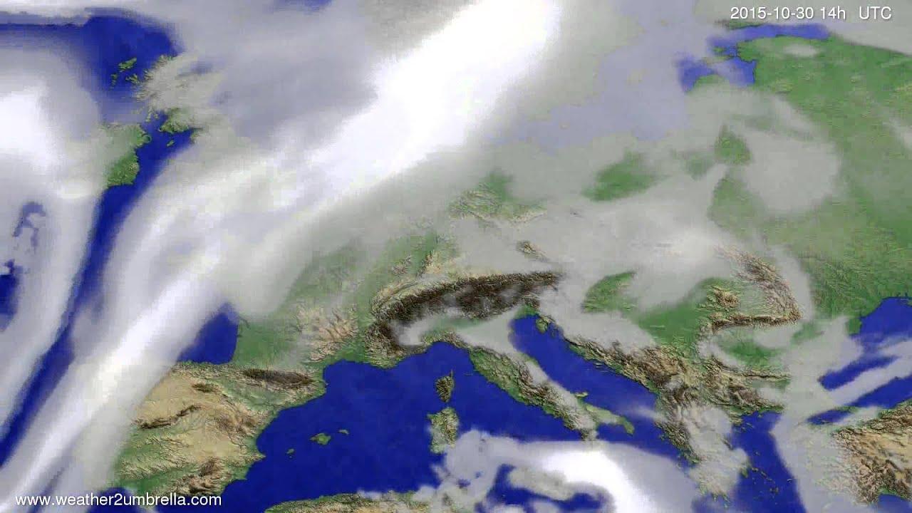 Cloud forecast Europe 2015-10-26