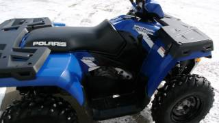 2. 2013 Polaris Sportsman 400HO 4x4 Blue and 2011 Polaris Sportsman 400 HO 4x4 Red