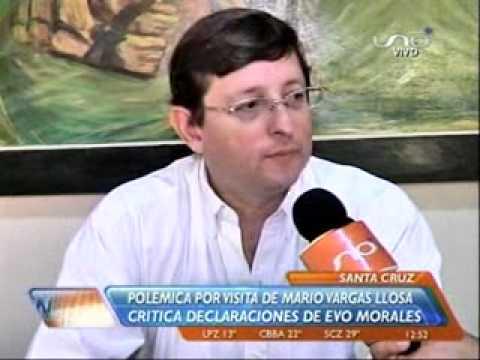 Oscar Ortiz critica declaraciones del Presidente Evo Morales sobre la visita de Mario Vargas Llosa