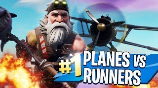PLANES vs RUNNERS! in FORTNITE CREATIVE MODE!! by iBallisticSquid