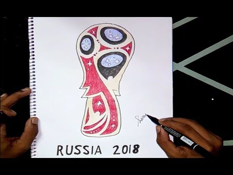FIFA World Cup Russia 2018 ( Logo Drawing )