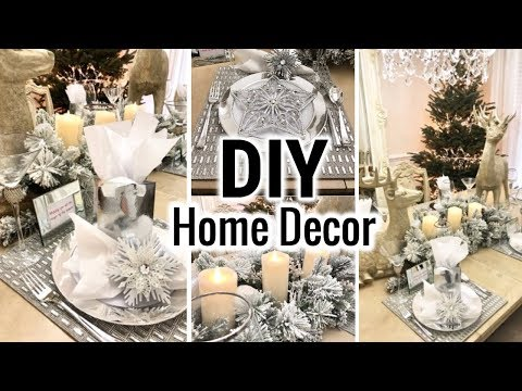 DIY Dollar Tree Glam Dining Room Makeover!  Dollar Tree DIY Christmas Decorate With Me
