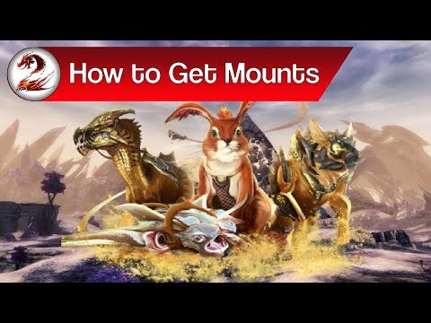 Guild Wars 2: How to Get Mounts | Where to Get the Jackal, Skimmer, Springer & Raptor Guide (видео)