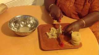 Vaalaithandu Arivathu Eppadi Or How To Clean And Cut Banana Stem Or Plaintain Stem