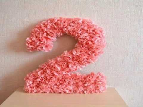 Paper flowers birthday number diy do it yourself paper flowers birthday number diy mightylinksfo
