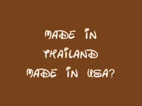 MADE IN USA MADE IN THAILAND ENGLISH AND THAI VERSION AUDIO (видео)