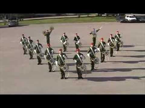 Swedish army drum corps Stockholm
