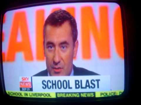 Sky News Coverage Of A School Explosion In Liverpool