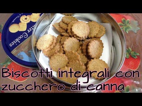biscotti integrali con zucchero di canna - la videoricetta