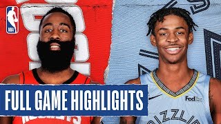 ROCKETS at GRIZZLIES   FULL GAME HIGHLIGHTS   January 14, 2020