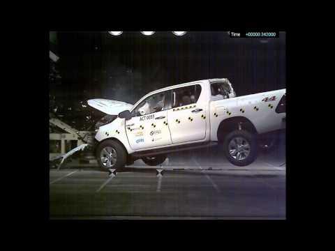 คลิปทดสอบการพุ่งชน Toyota Hilux Revo จาก Asean NCAP