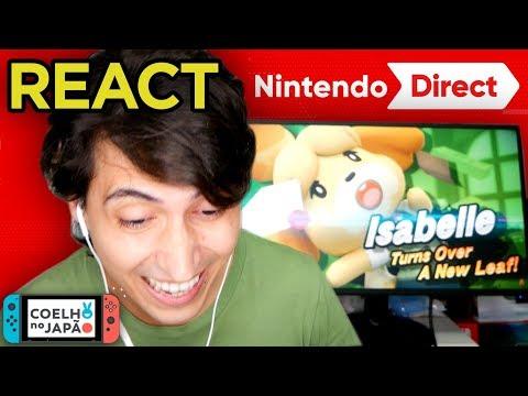 React Nintendo Direct Setembro 2018 e Opiniões de anúncios