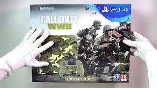WWII LIMITED EDITION CONSOLE UNBOXING (PS4 1Tb Slim) Call of Duty WW2 Gameplay