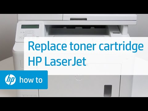 Replacing the Toner Cartridge on HP LaserJet Printers
